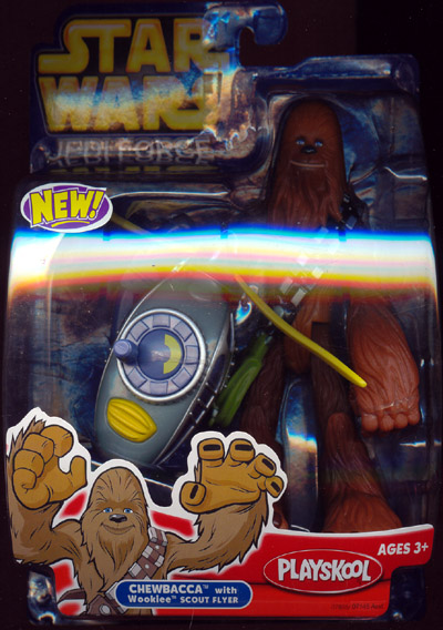 Chewbacca with Wookiee scout flyer (Jedi Force)