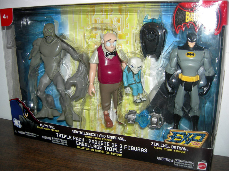 Clayface, Ventriloquist with Scarface and Zipline Batman 3-Pack (EXP)