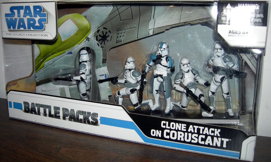 Clone Attack on Coruscant 5-Pack Battle Pack (The Legacy Collection)