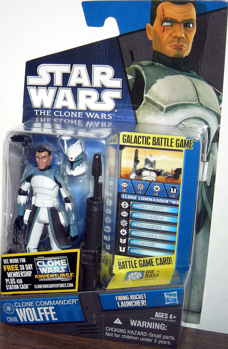 Clone Commander Wolffe Action Figure CW48 Hasbro