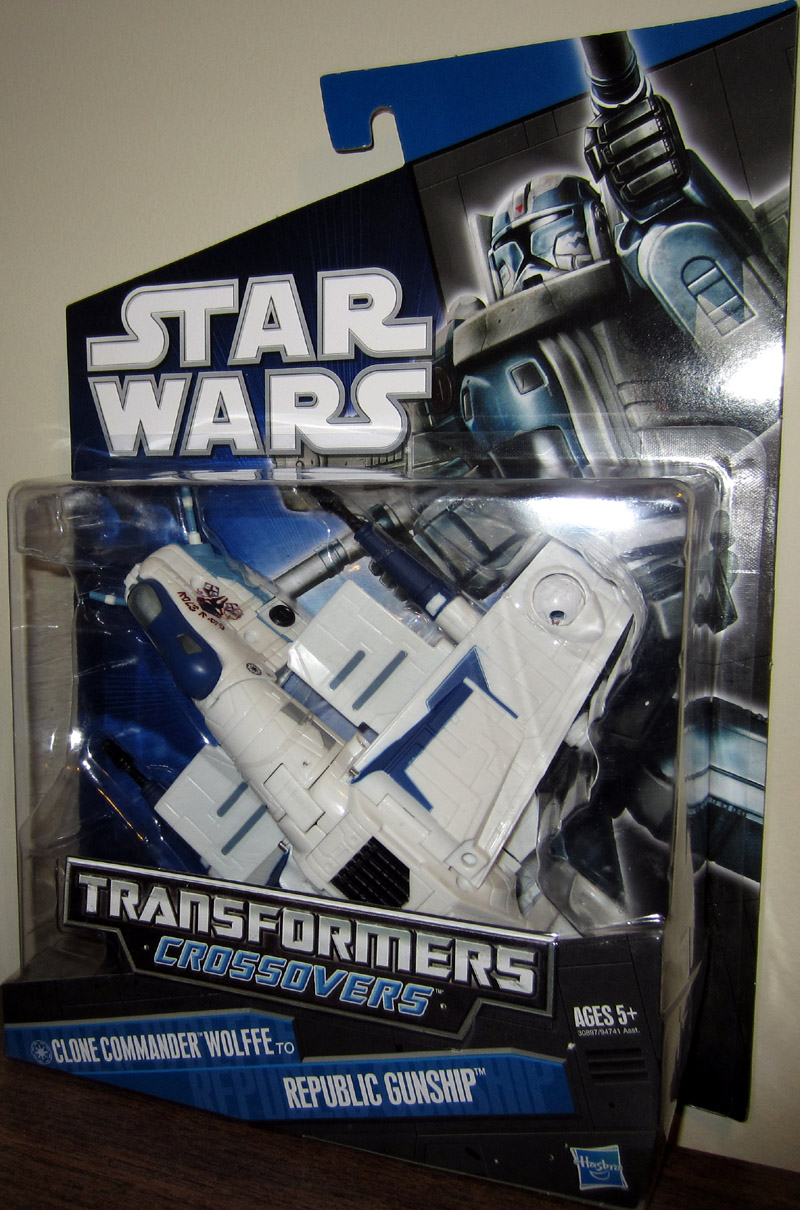 Clone Commander Wolffe to Republic Gunship (Transformers Crossovers)