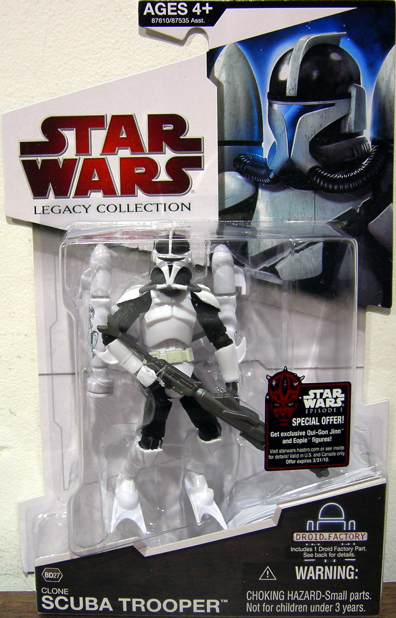 Star Wars The Clone Wars Toys : Clone scuba trooper bd star wars action figure