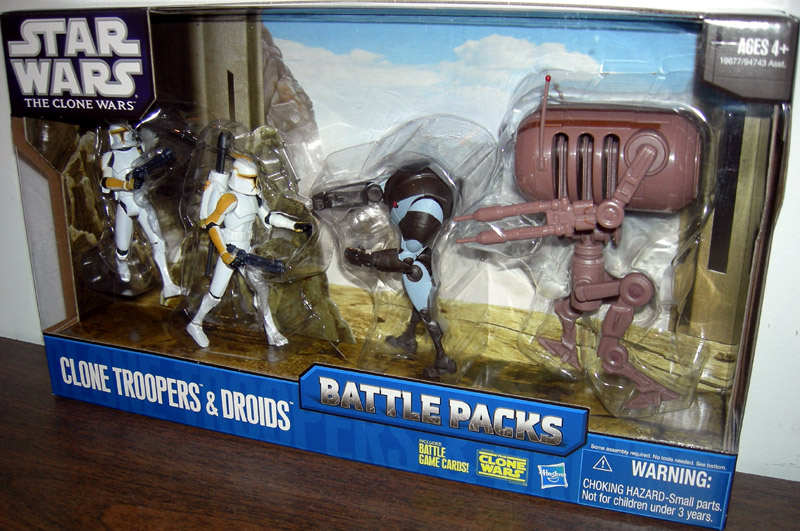 Clone Troopers & Droids 4-Pack (Battle Packs)