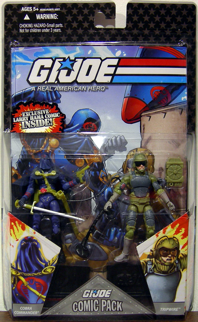 Cobra Commander & Tripwire (Comic Pack)