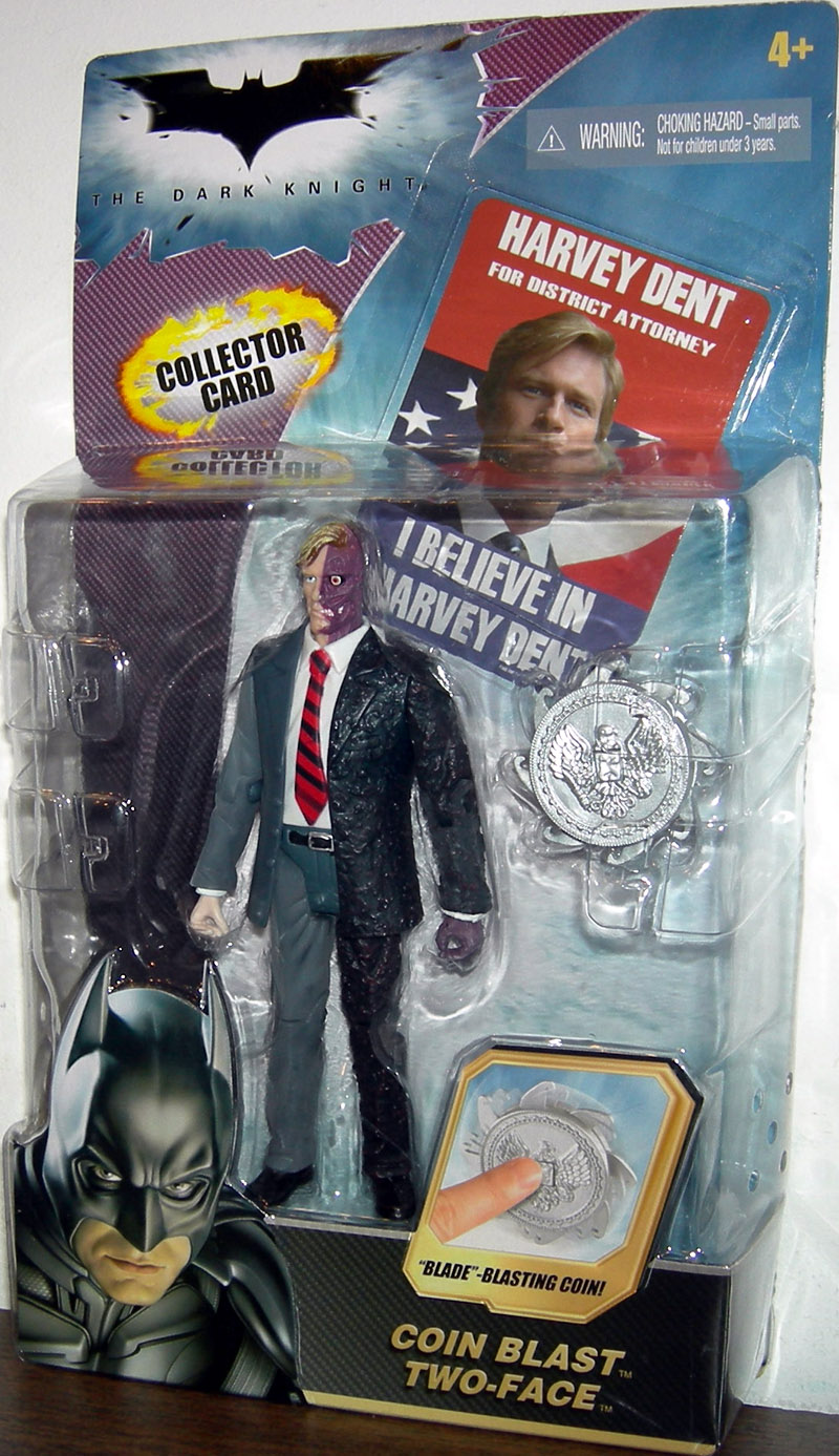 Coin Blast Two-Face, with trading card (The Dark Knight)