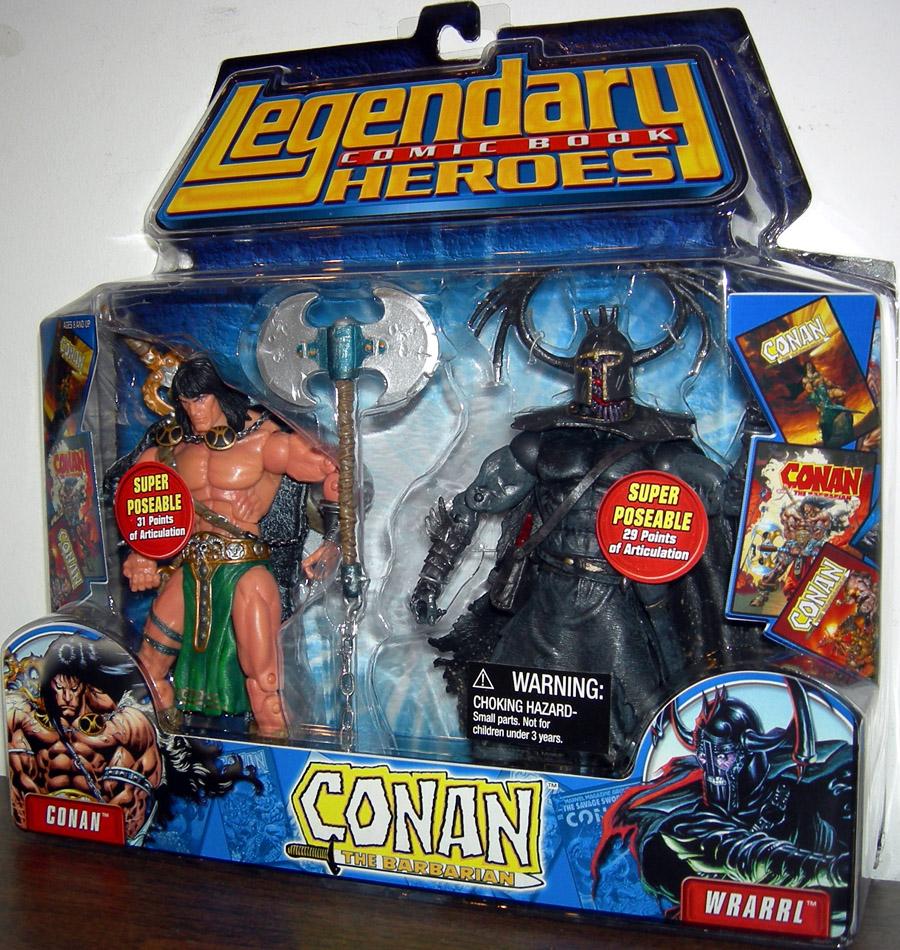 Conan vs Wrarrl Figures Legendary Comic Book Heroes
