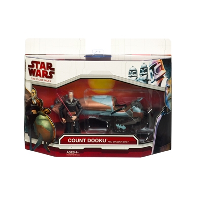Count Dooku and Speeder Bike