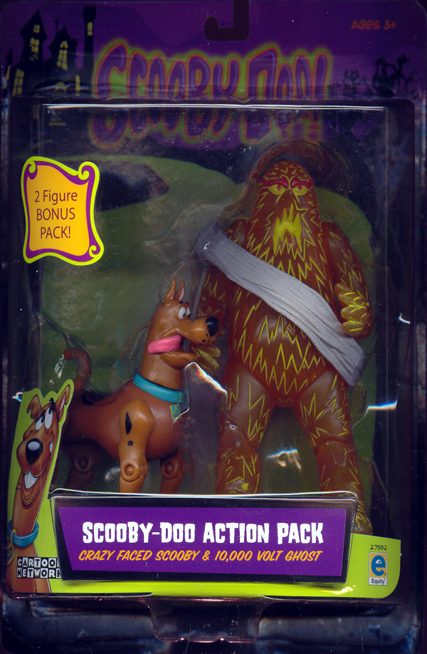 Crazy Faced Scooby 10,000 Volt Ghost 2-Pack