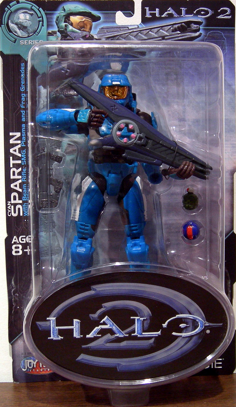 Cyan Spartan (Halo 2, series 7, white stripes)