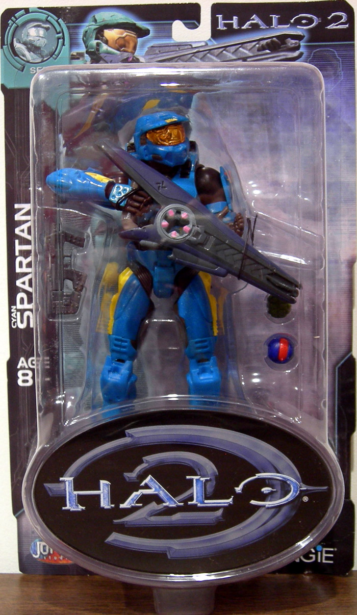 Cyan Spartan (Halo 2, series 7, yellow stripes)