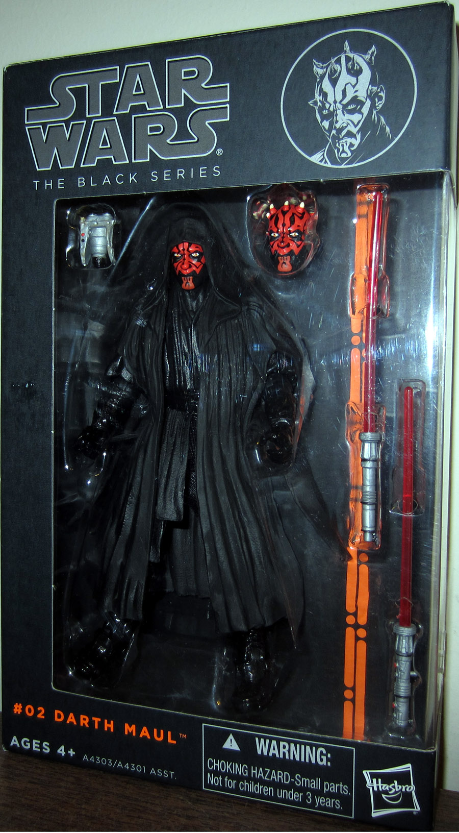 Darth Maul Figure Black Series 02 Star Wars Hasbro