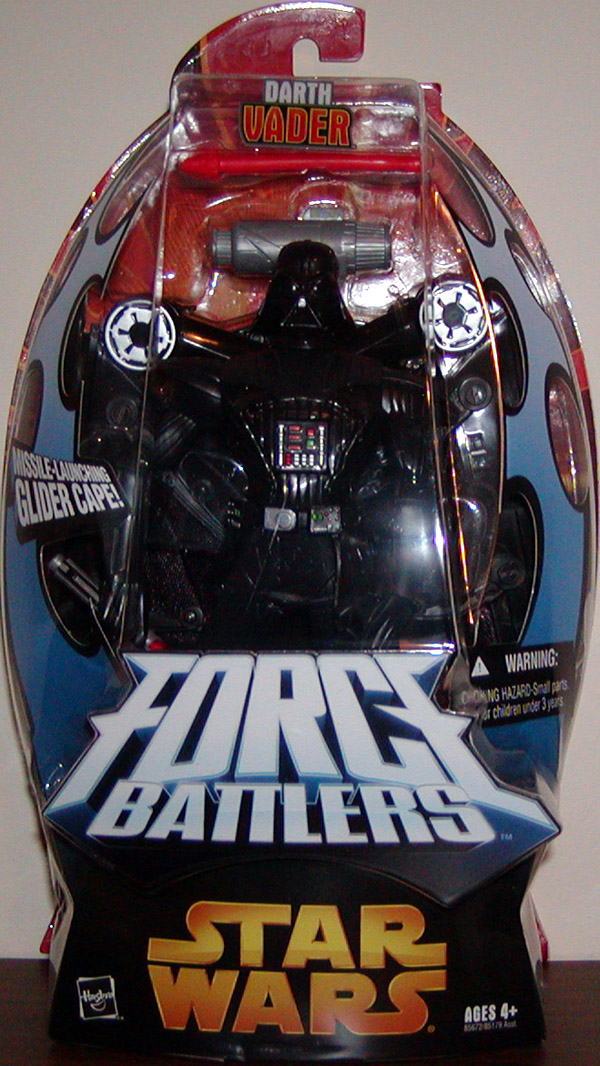 Darth Vader with missile-launching cape (Force Battlers)