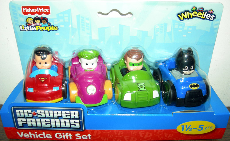 DC Super Friends Vehicle Gift Set 4-Pack (Little People)