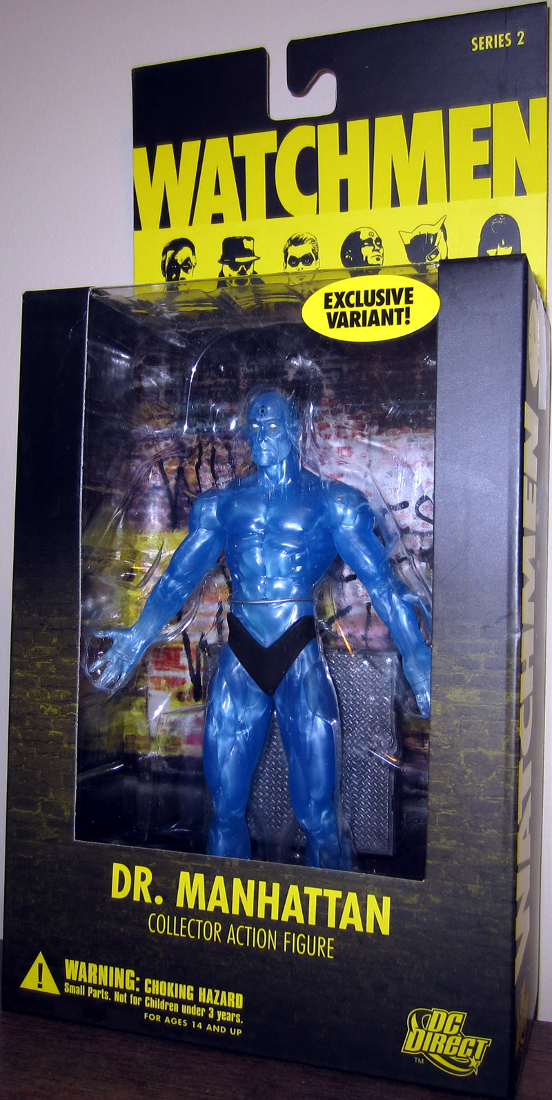 Dr Manhattan Figure Translucent Watchmen DC Direct