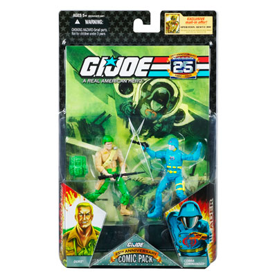 GI JOE 25th Anniversary Comic Pack - DUKE and COBRA COMMANDER