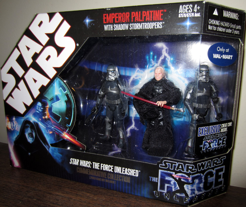 Force Unleashed 3-Pack (Emperor Palpatine with Shadow Stormtroopers)