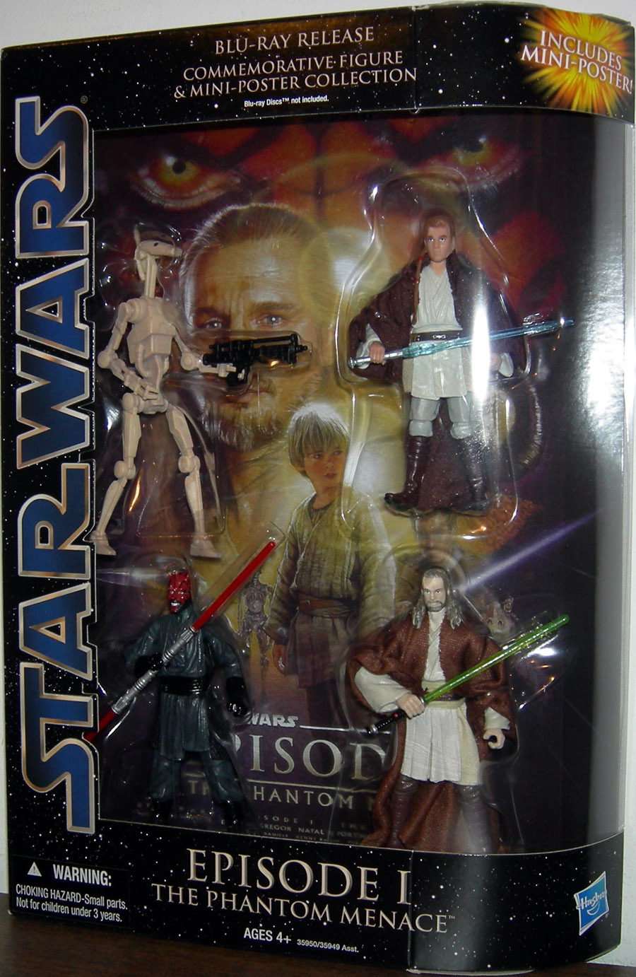 The Phantom Menace Toys : Star wars blu ray release commemorative action figures