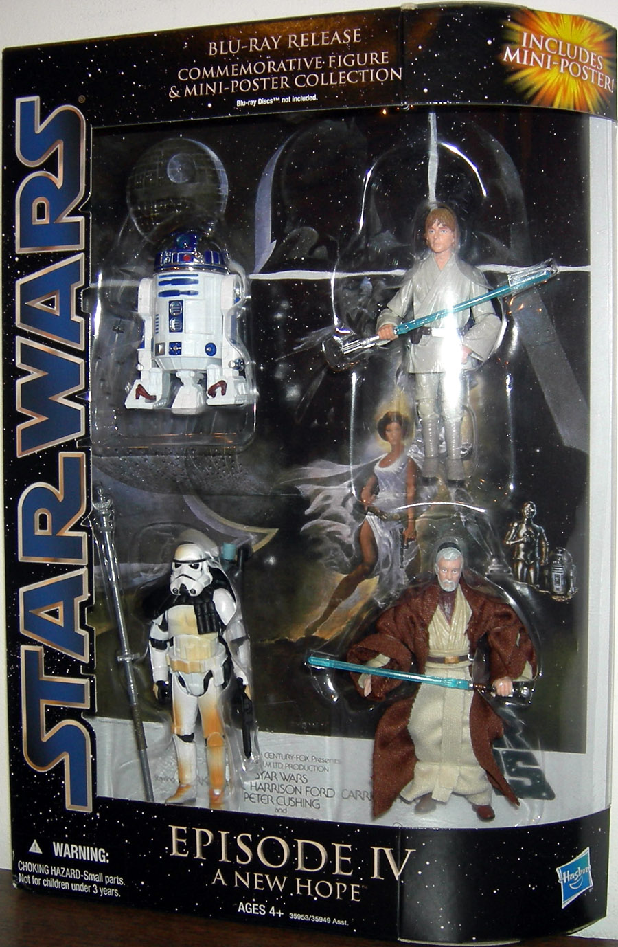 Star Wars Blu-Ray Release Commemorative Action Figures Mini-Poster  Collection Episode IV New Hope Set