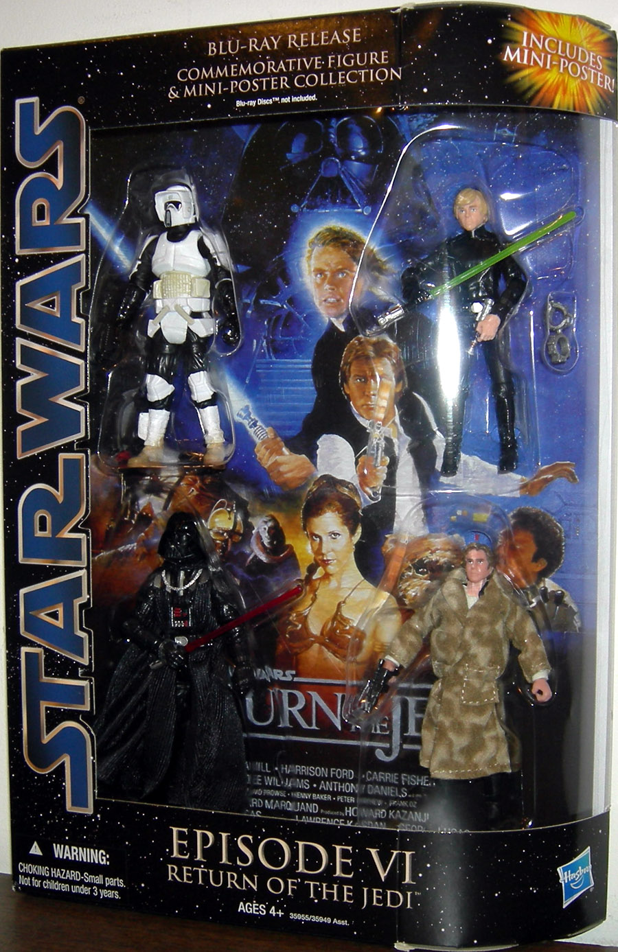 Star Wars Blu-Ray Release Commemorative Action Figures Mini-Poster  Collection Episode VI