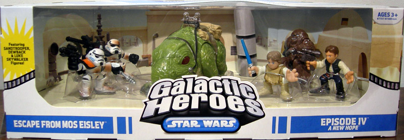 Playskool Galactic heroes Star Wars Sandtrooper et DEWBACK New
