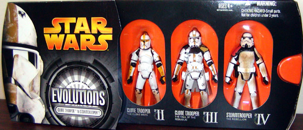 Clone Trooper to Stormtrooper Evolutions 3-Pack