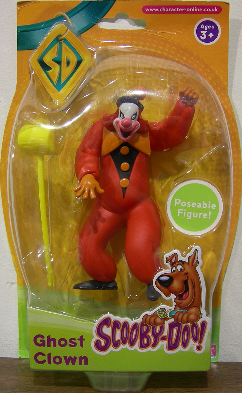 ghost clown action figure scoobydoo character toys