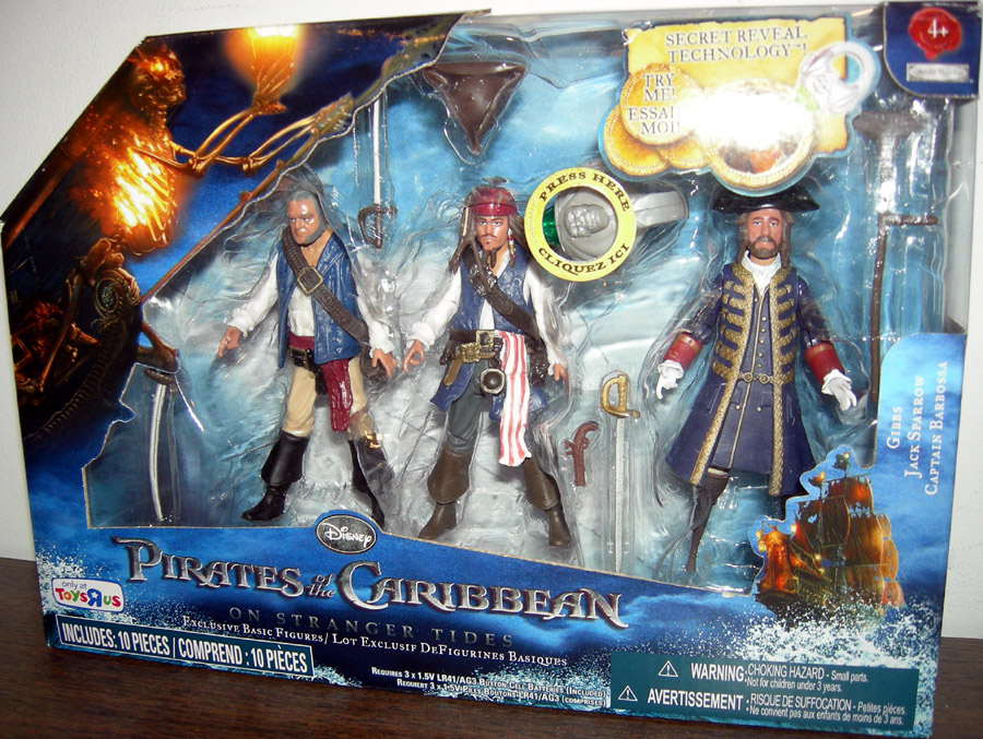 Pirates Of The Caribbean Toys : Gibbs jack sparrow captain barbossa pack toys r us