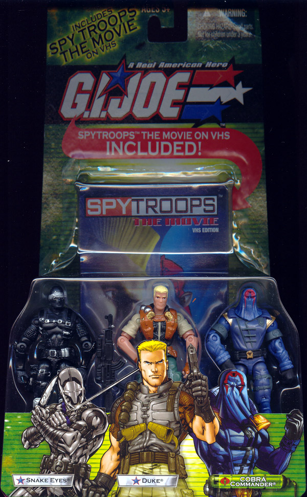 Snake Eyes, Duke & Cobra Commander 3-Pack (with VHS video)