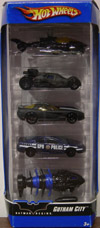 Batman Begins Gotham City Hot Wheels 5-Pack (1:64th scale)