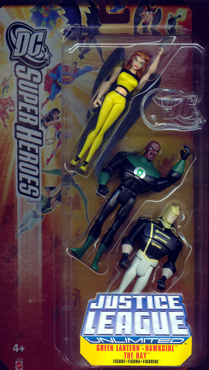 Green Lantern, Hawkgirl (Shayera Holas) & The Ray 3-Pack