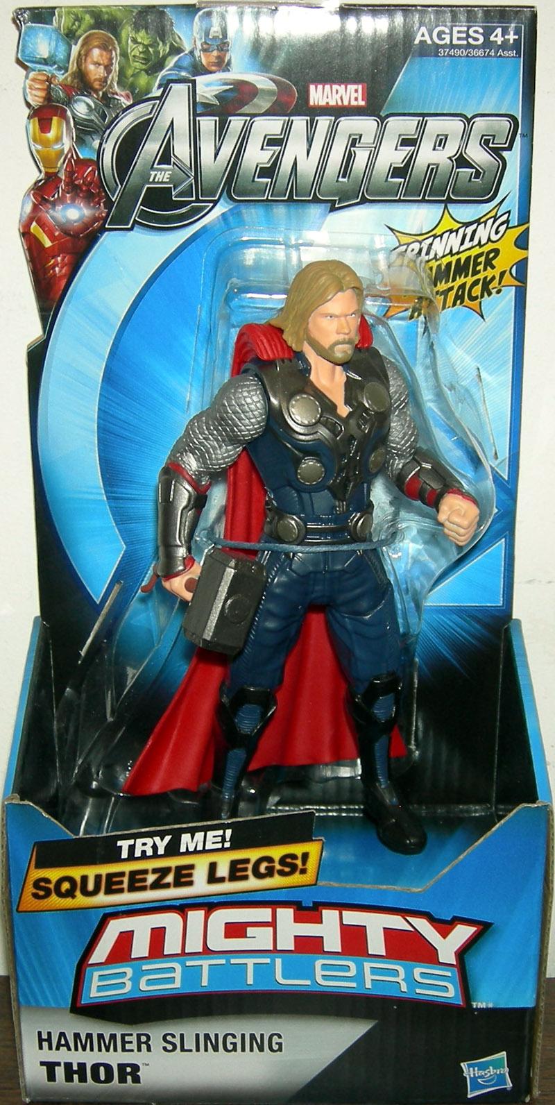 Hammer Slinging Thor Avengers Mighty Battlers