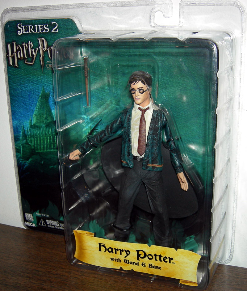 Harry Potter with wand & base (Order of the Phoenix, series 2)