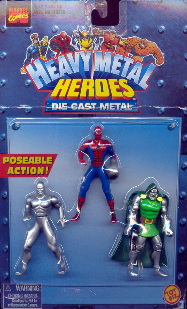 Heavy Metal Heroes 3-Pack (Spider-Man, Silver Surfer & Dr. Doom)