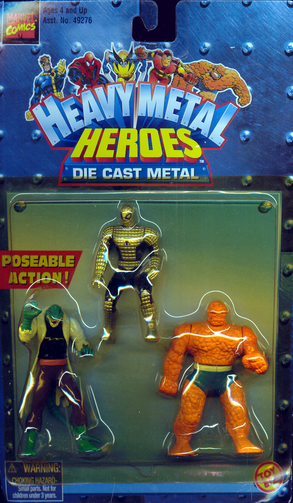 Heavy Metal Heroes 3-Pack (Spider-Armor Spider-Man, The Lizard & The Thing)