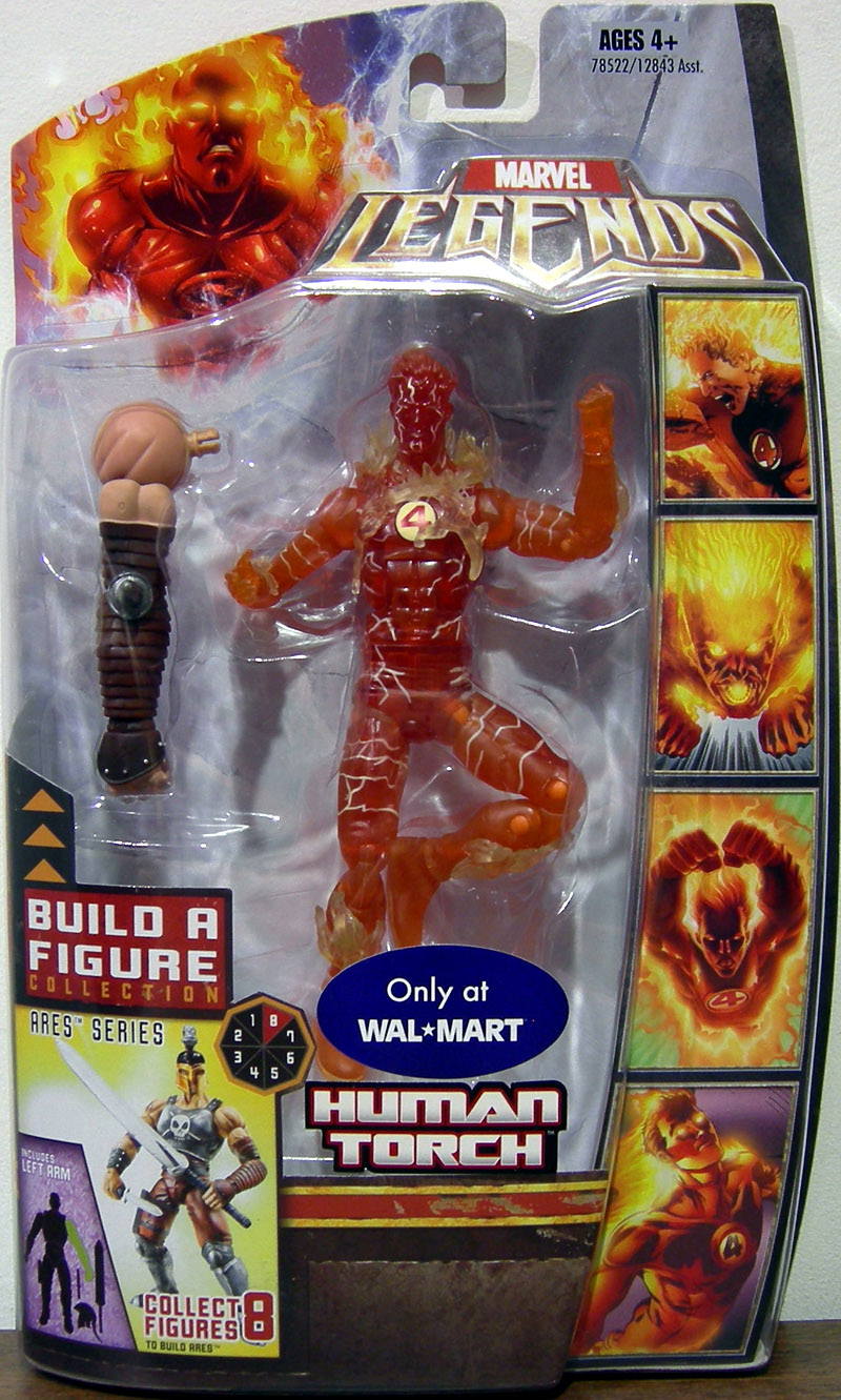 Human Torch (Marvel Legends, Ares series, variant)