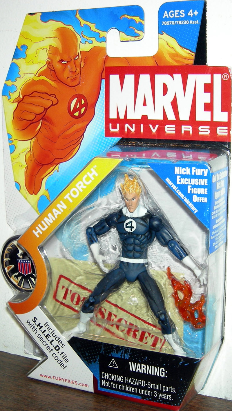 Human Torch (Marvel Universe, dark costume, #011)