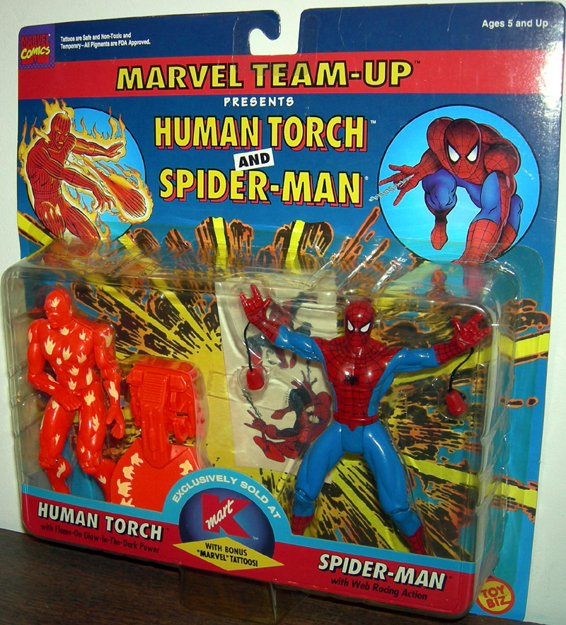Human Torch and Spider-Man 2-Pack (K-Mart Exclusive)