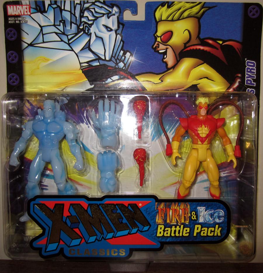Iceman vs Pyro X-Men Classics action figures