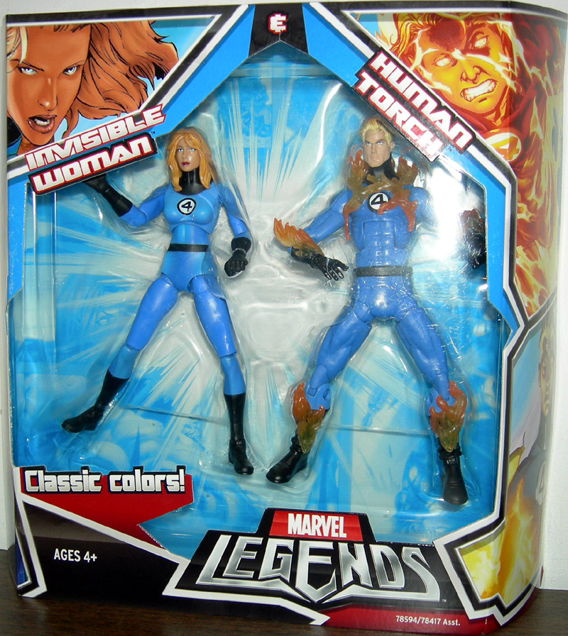 Invisible Woman & Human Torch (Marvel Legends)