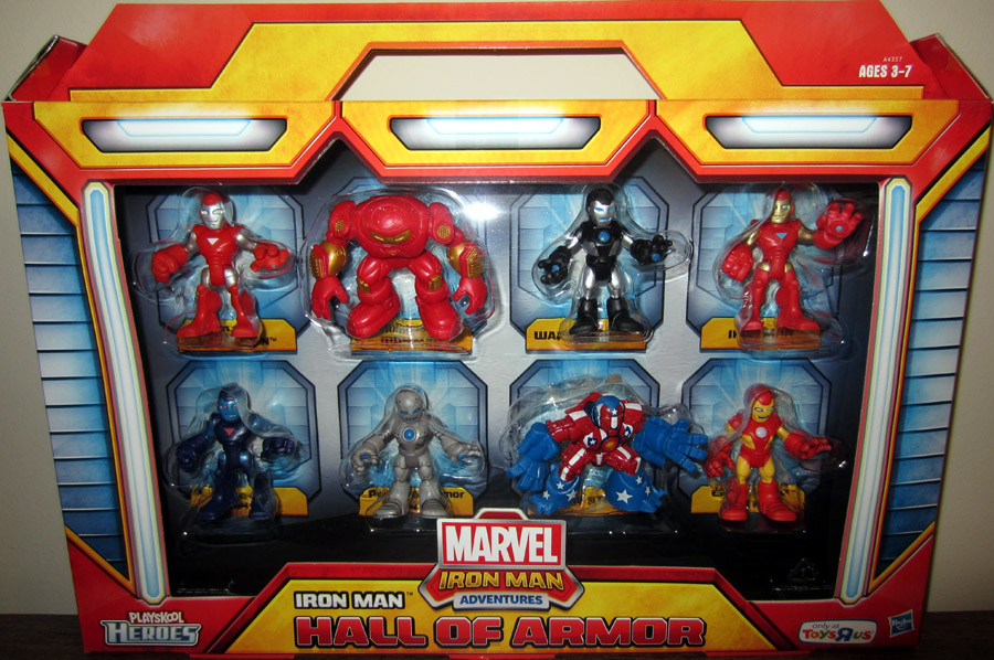Iron Man Hall Of Armor 8-Pack (Playskool Heroes, Toys R Us Exclusive)