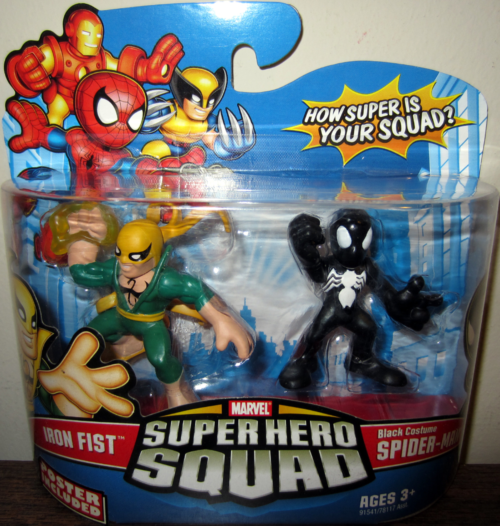 Iron Fist & Black Costume Spider-Man (Super Hero Squad)