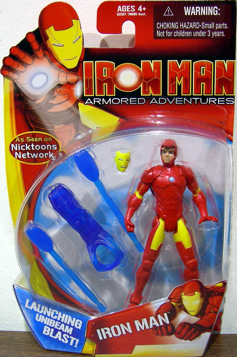 Toys And Adventures : Iron man armored adventures figure launching unibeam blast