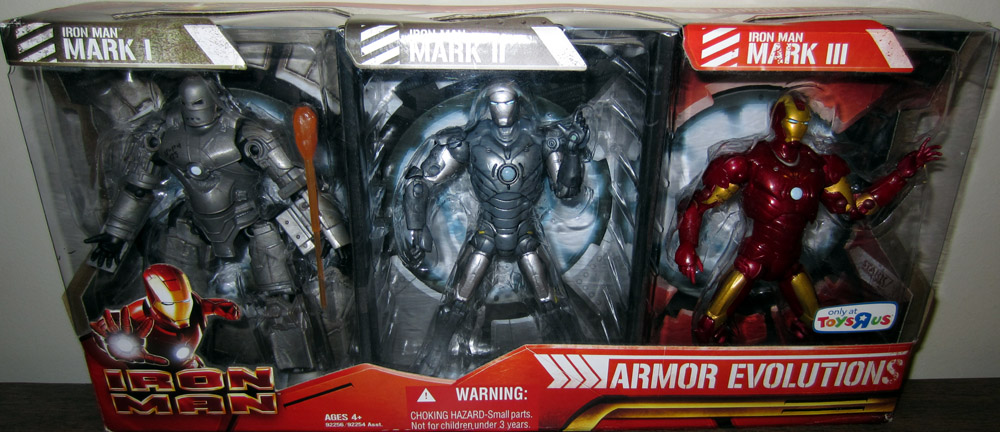 Iron Man Armor Evolutions 3-Pack (Toys R Us Exclusive)