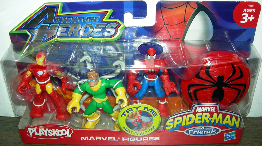 Iron Man, Dr. Octopus & Spider-Man (Playskool Adventure Heroes)