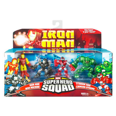 Iron Man Super Hero Squad 4-Pack: Face Off