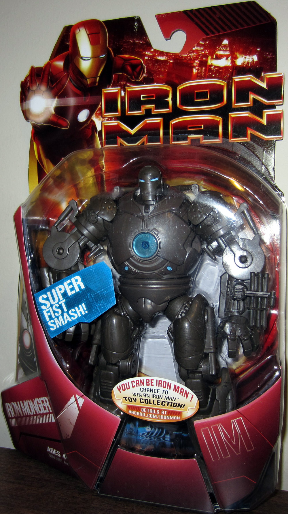 Iron Monger with super fist smash (movie, blue version)