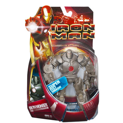 Iron Monger with super fist smash (movie, red version)