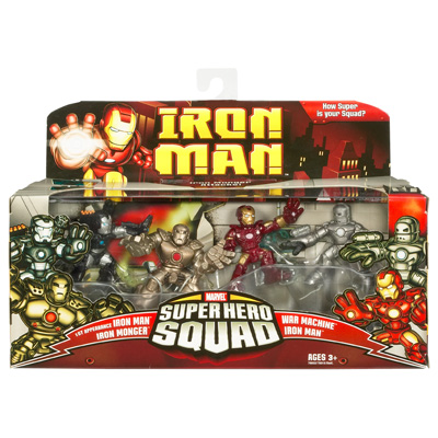 Iron Monger Attacks 4-Pack (Super Hero Squad)