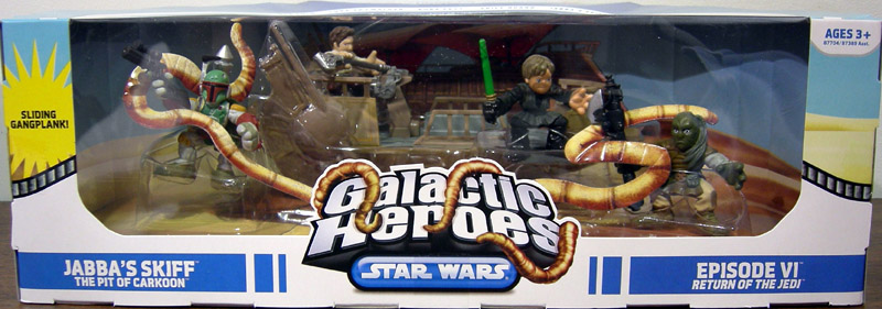 Jabba's Skiff The Pit of Carkoon 4-Pack (Galactic Heroes)