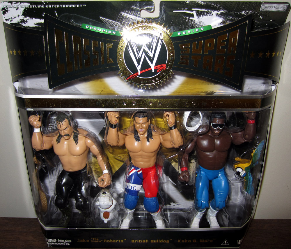 jake snake roberts british bulldog koko b ware figures wwe classic super stars. Black Bedroom Furniture Sets. Home Design Ideas